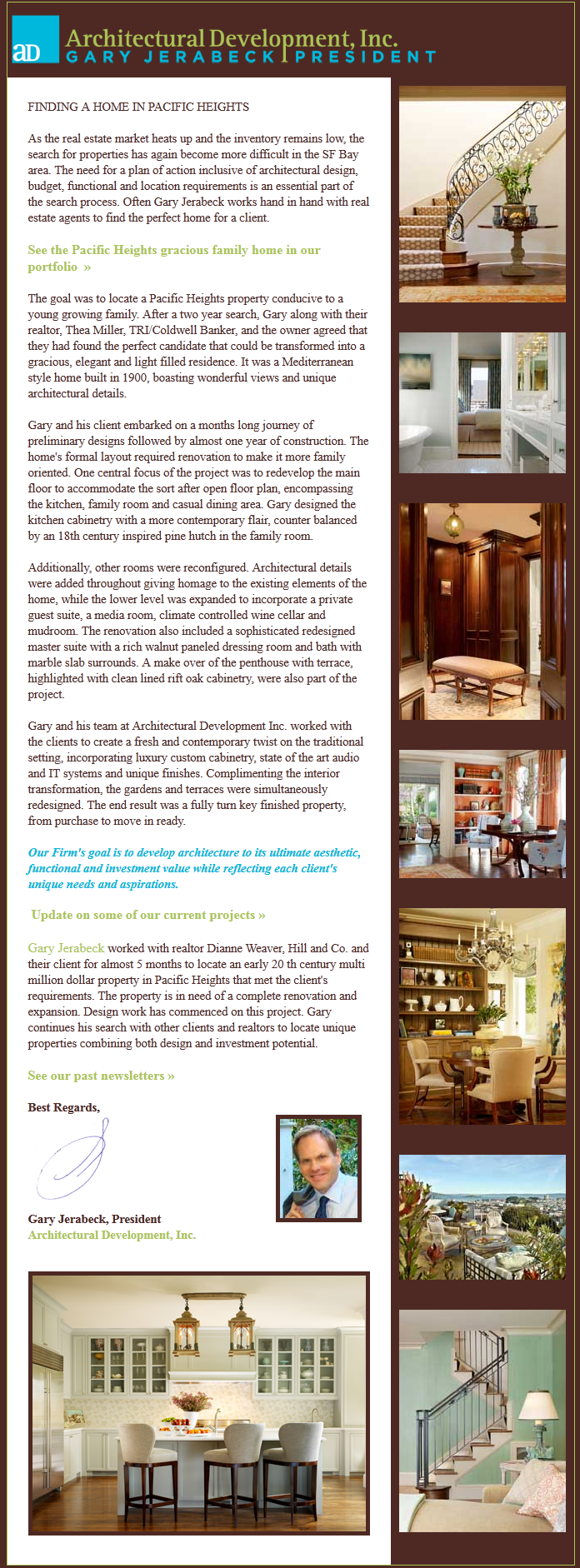 Architectural Development, Inc., Newsletter 6, September 2012